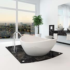 oval shaped white bahtub