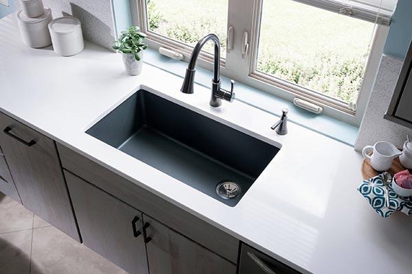 image of designer kitchen sinkm by carysil